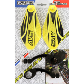 AVS Racing Kit protection mains, yellow/black